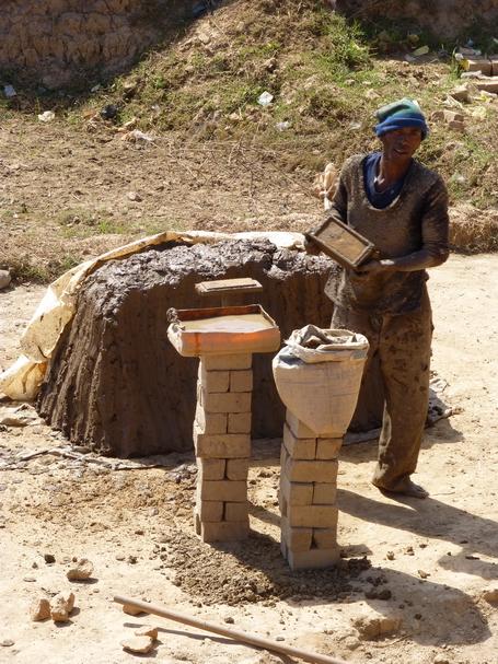 la fabrication de briques en terre cuite artisanale