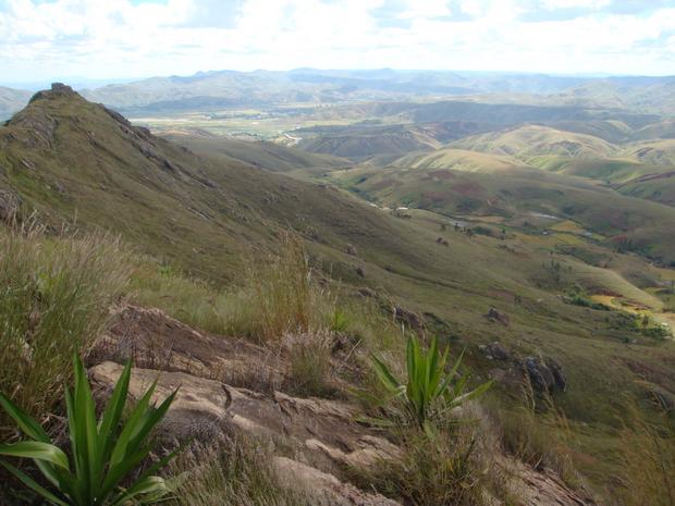 extrémité ouest à l' horizon la plaine de Ifanga