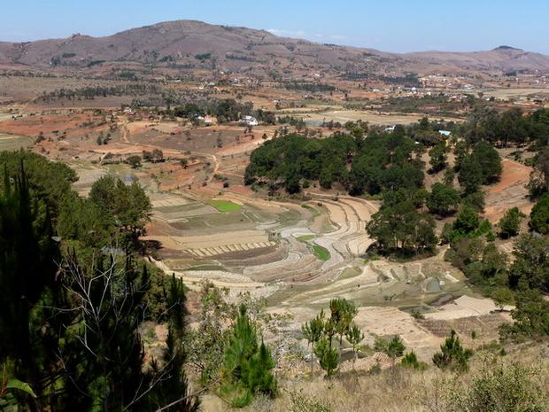 Crête aux 5 sommets le Massif Ampananina et la plaine des rivières Rihinirano et Andranotsoriaka