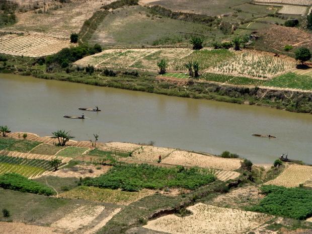 transport fluvial du sable
